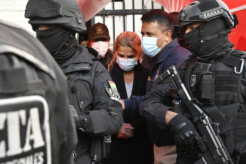 La expresidenta de facto fue detenida el sábado en la localidad boliviana de Trinidad.