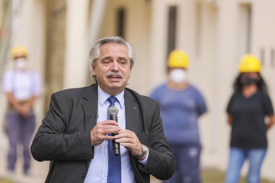 Fernández, durante un acto en la semana. (Fuente: NA)