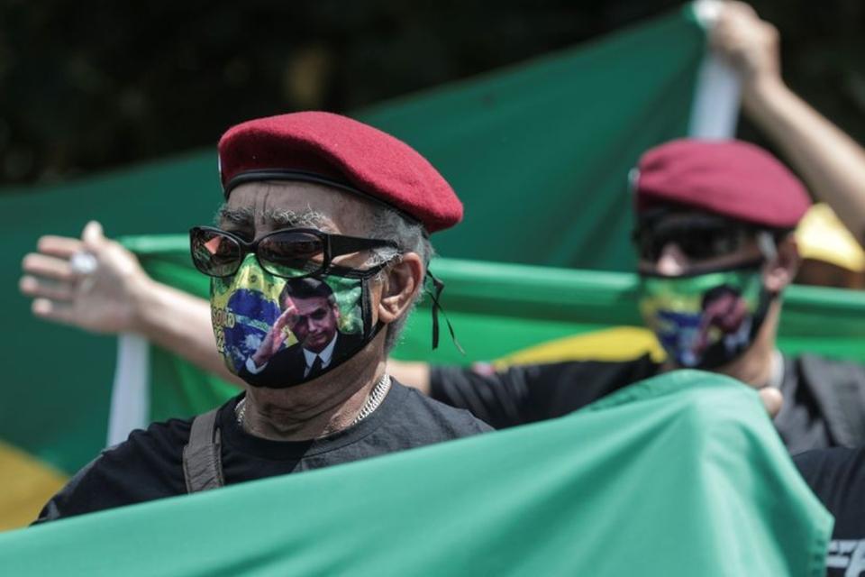 Simpatizantes de Bolsonaro en Río de Janeiro. (Fuente: EFE)