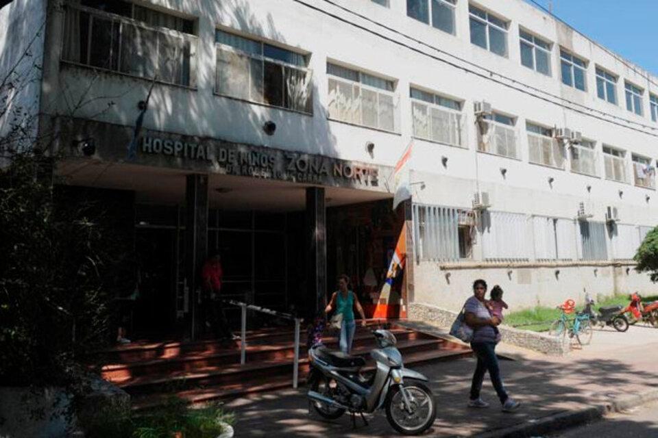 El hospital de Rosario donde se halla internada la pequeña.