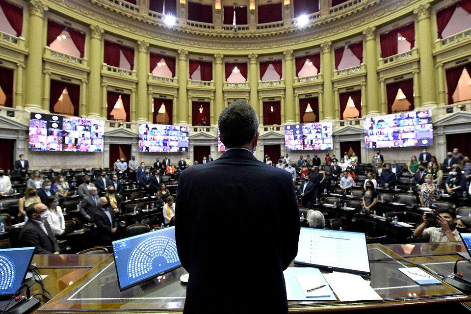 La presidencia de la Cámara de Diputados presentó el Programa Alivio Fiscal Monotributo. (Fuente: Télam)