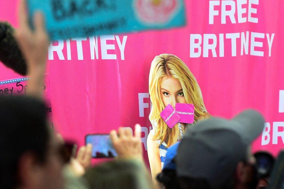 Los fans de Spears iniciaron el movimiento #FreeBritney para apoyarla. (Fuente: AFP)