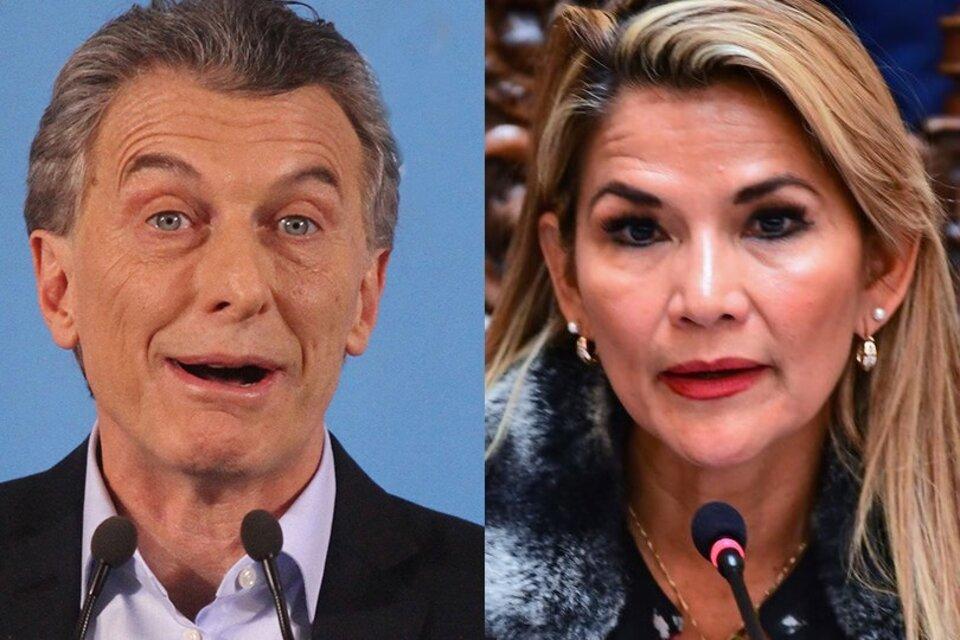 Mauricio Macri colaboró con el golpe de Jeanine Añez.