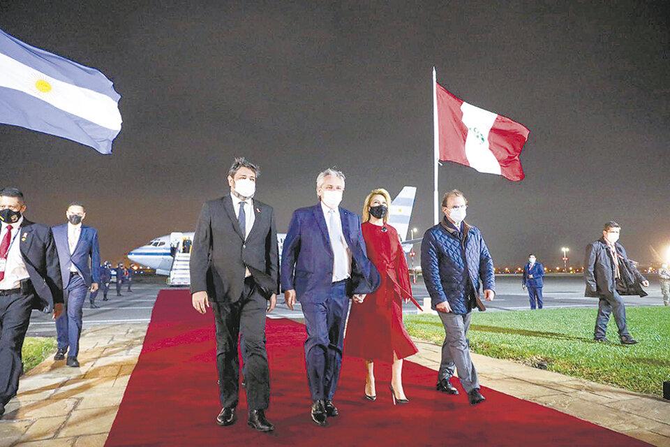 El Presidente y Yañez llegaron a Perú.