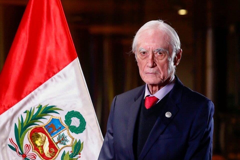Héctor Béjar, el renunciante canciller de Pedro Castillo. (Fuente: AFP)