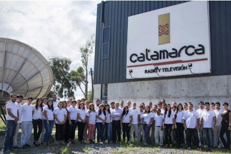 El equipo que fundó Catamarca Radio y Televisión en 2012.