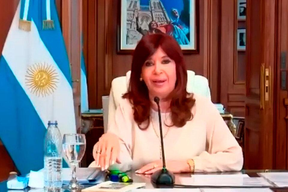 Cristina Fernández de Kirchner, cuando era presidenta de la Nación.
