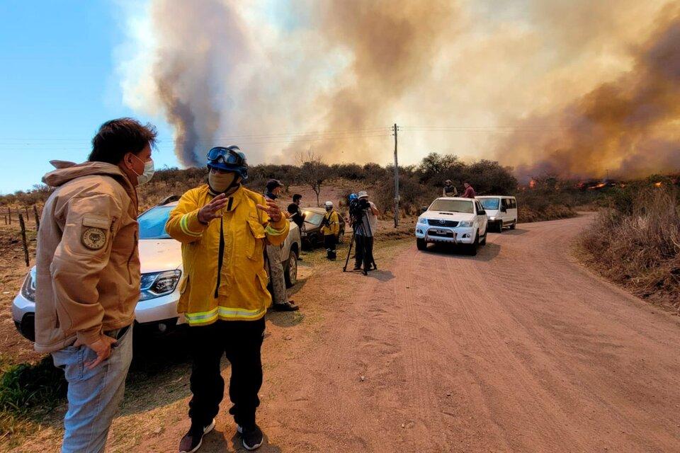 El fuego devoró más de 60 mil hectáreas en el norte de la provincia durante la semana pasada. (Fuente: NA)