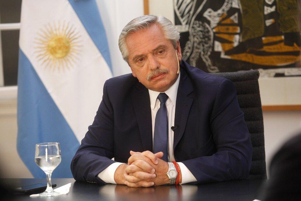 El presidente Alberto Fernández dijo que no es cierto que el acuerdo con el FMI se firmará el año próximo. (Fuente: Carolina Camps)