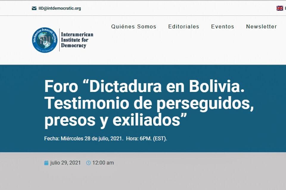 Uno de los seminarios queofrece el Instituto Interamericano para la democracia en su pagina web.
