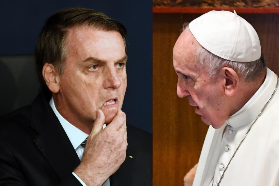 Catequistas, indígenas, campesinos sin tierra serían parte de la conspiración del Papa, según Bolsonaro.