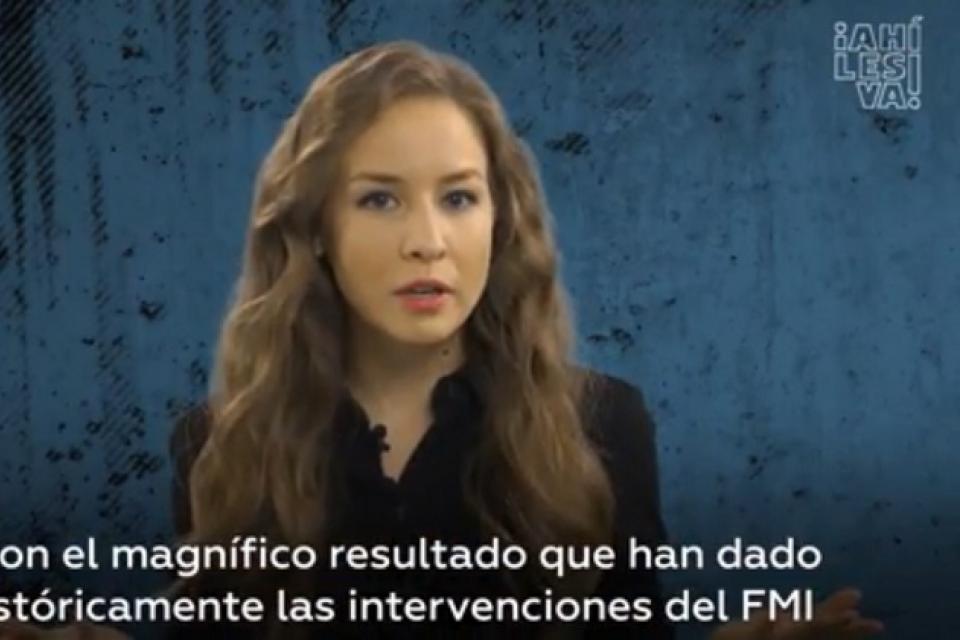 Inna Afinogenova explica la situación de Ecuador en un video cargado de ironía.