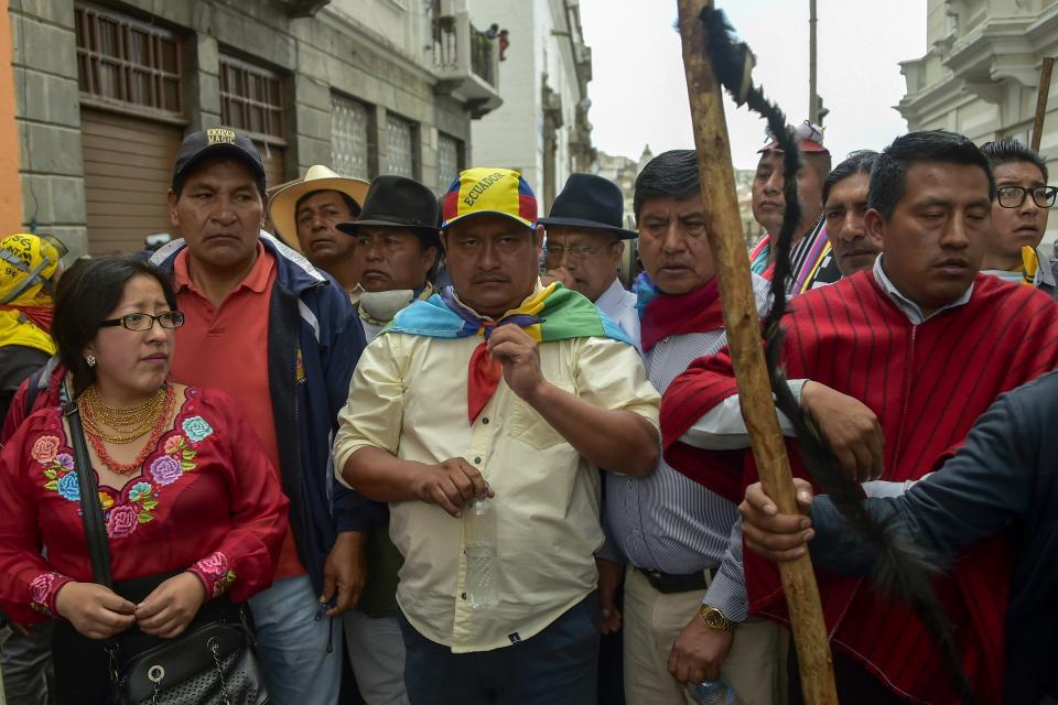 LA CONAIE NO BAJARÁ LOS BRAZOS NI LAS PROTESTAS HASTA QUE SE VAYA EL FMI DE ECUADOR