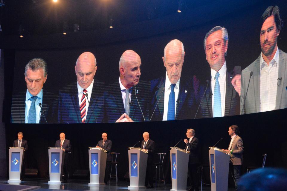 El debate presidencial en Santa Fe.
