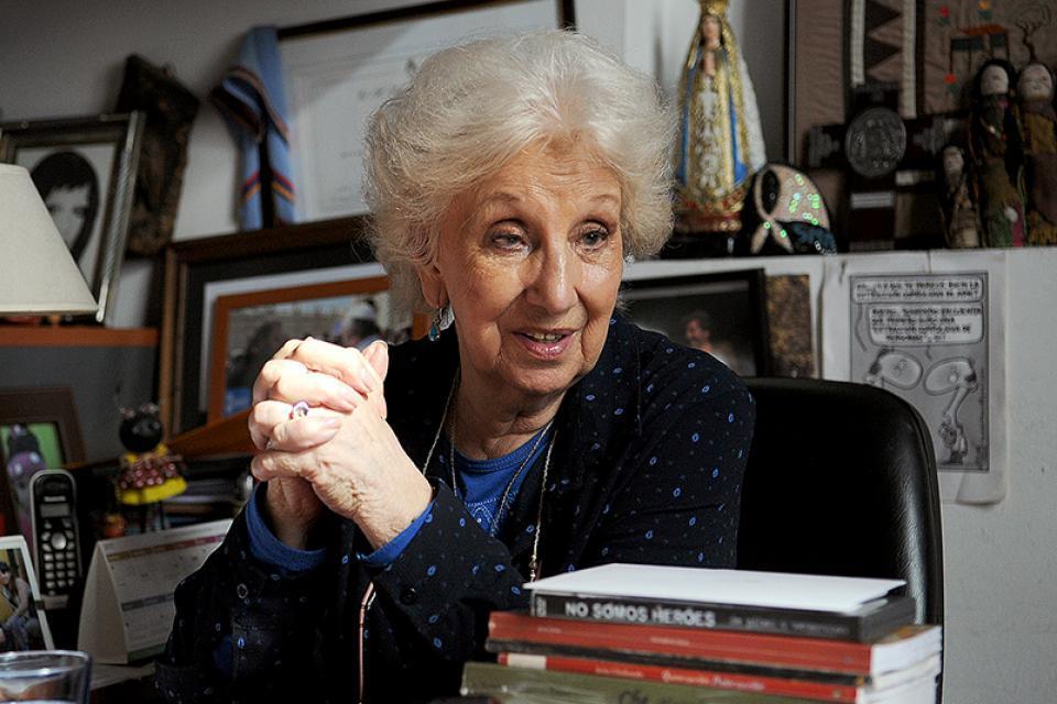 La presidenta de Abuelas, Estela de Carlotto.