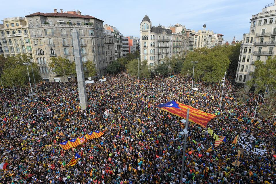 Marchas en Barcelona contra las condenas a los líderes catalanes