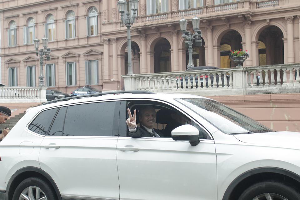 Alberto Fernández fue a la Casa Rosada a reunirse con Mauricio Macri.