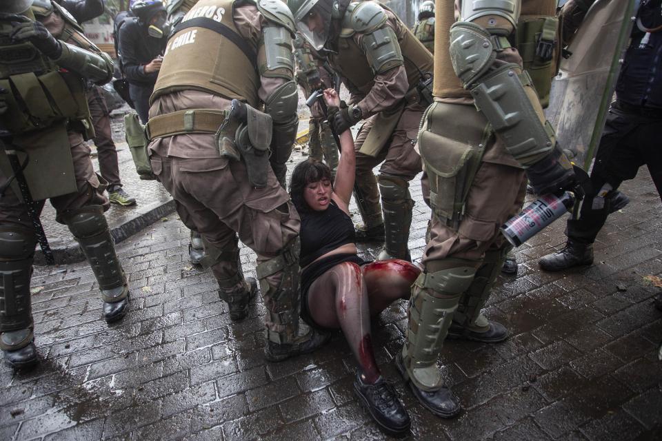 Resultado de imagen para chile represion