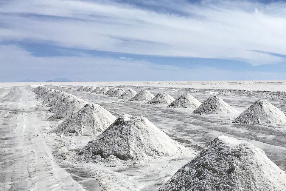 Salar de Uyuni, en Potosí. Base de un proyecto de industrialización que generó reacciones y hasta un golpe.