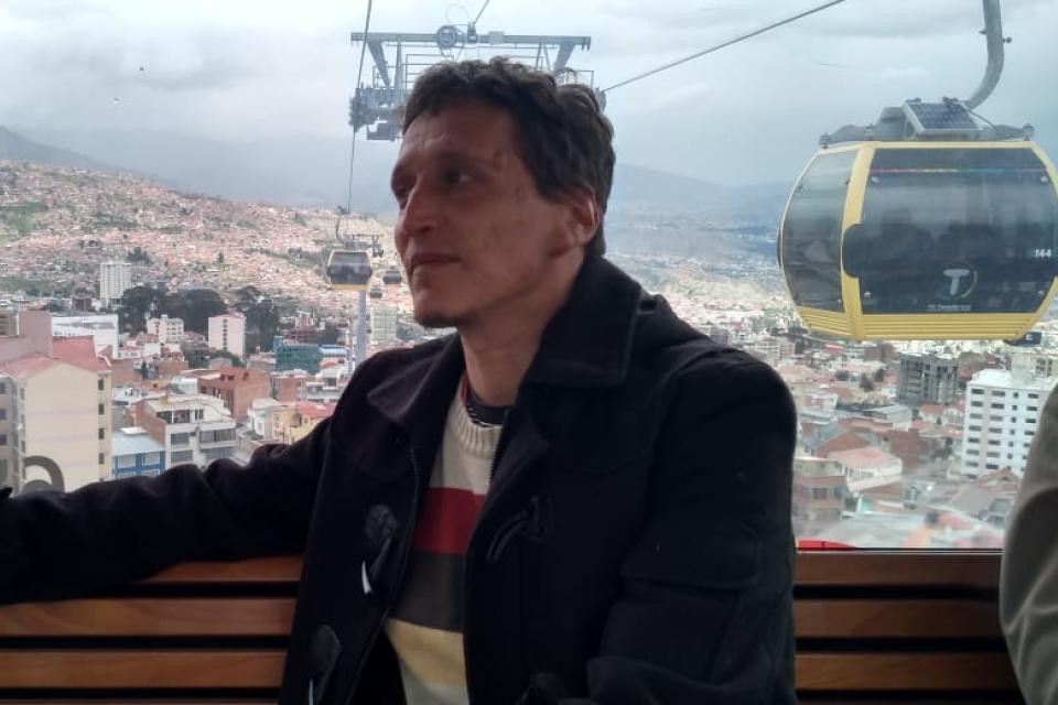 Sebastián Moro en el país que había elegido para radicarse y vivir del oficio que amaba.