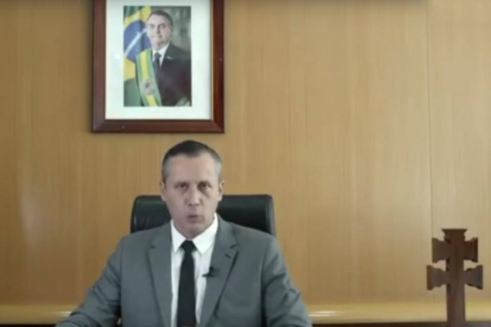 Captura de video del hoy exsecretario de Cultura, Roberto Alvim.