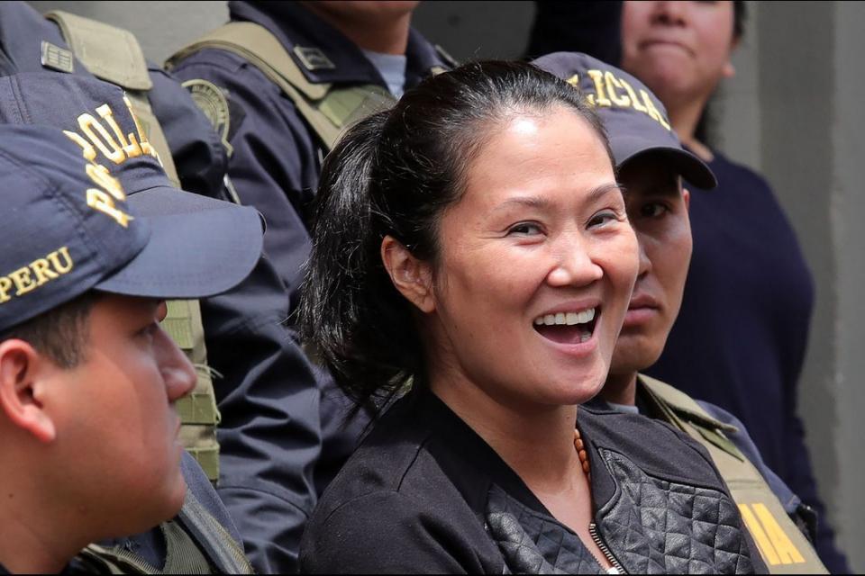 Keiko Fujimori, al ser detenida por primera vez en octubre de 2018.
