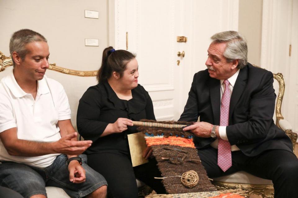 El presidente Alberto Fernández recibió a la ONG Andar.