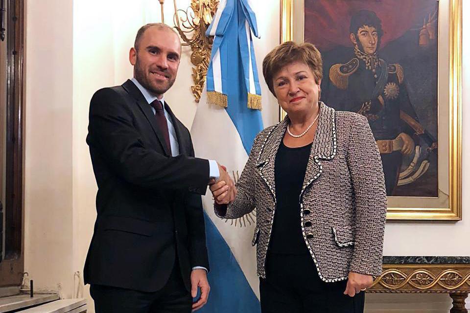Resultado de imagen de imagenes de El ministro de Economía Martín Guzmán y la directora gerente del FMI Kristalina Georgieva