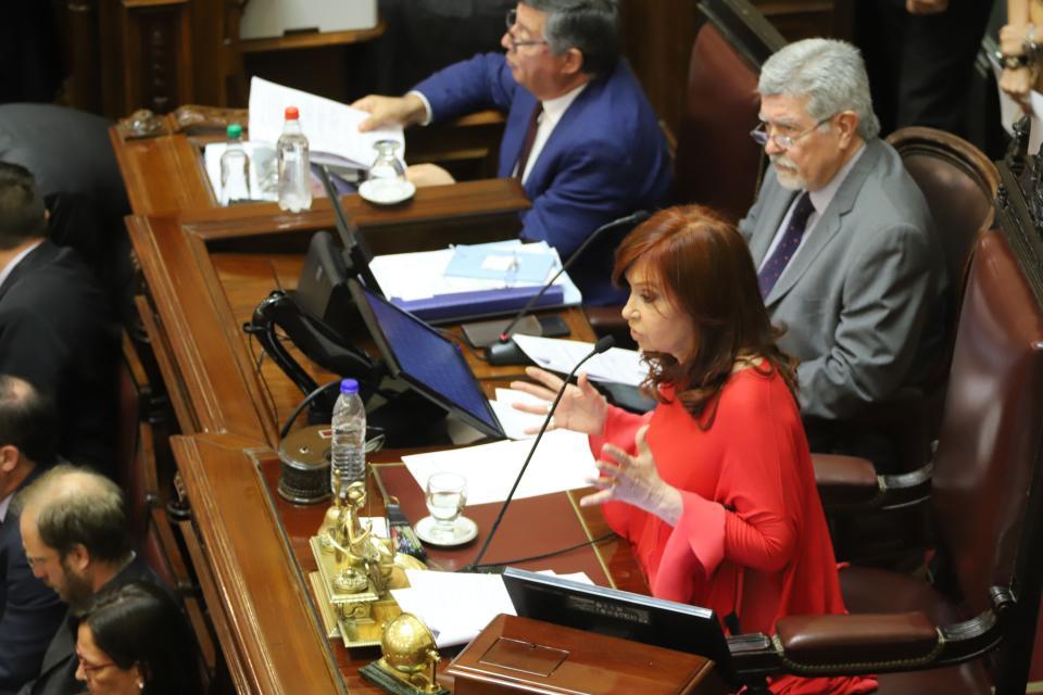 Cristina Kirchner protagonizó un picante cruce con Silvia Elías de Pérez en la Cámara de Senadores.