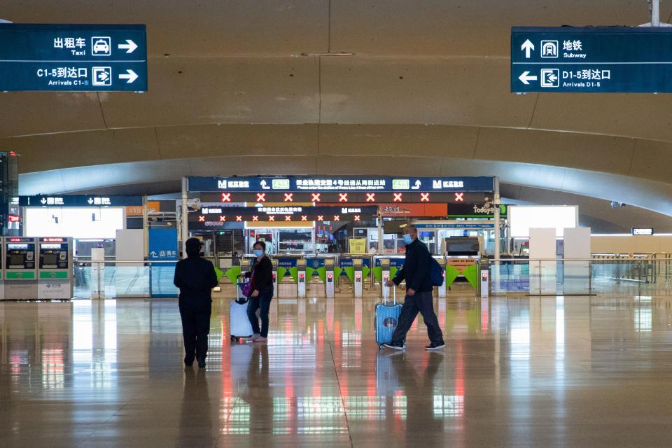 La estación de trenes de Wuhan.