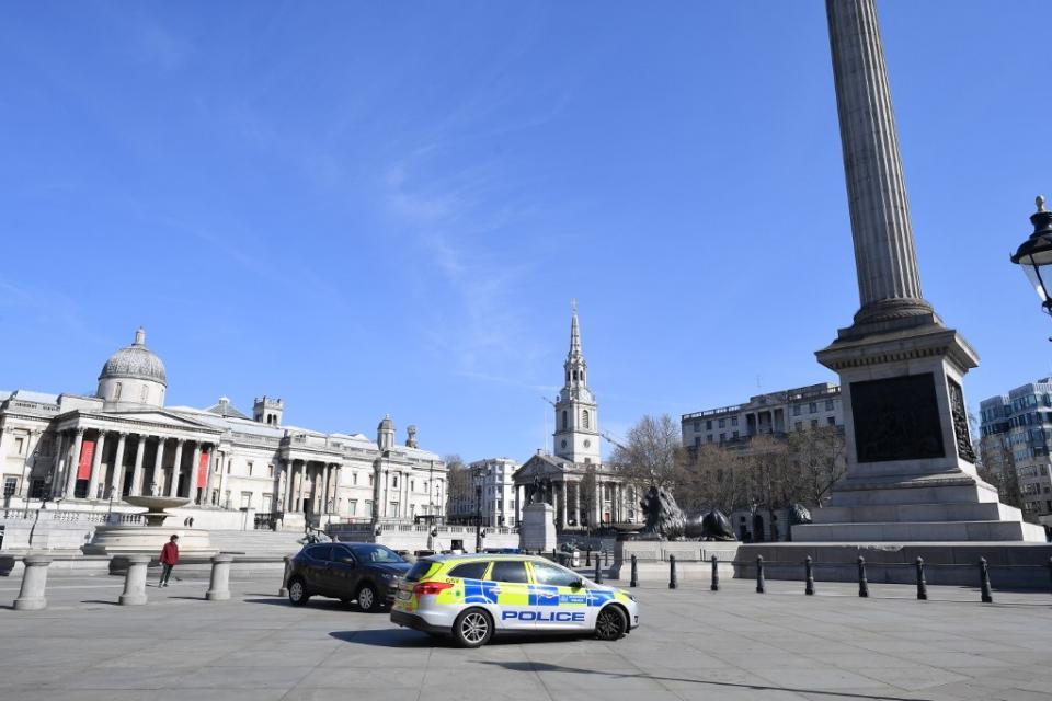 Las calles de Londres casi desiertas tras la implementación de la cuarentena por el coronavirus.