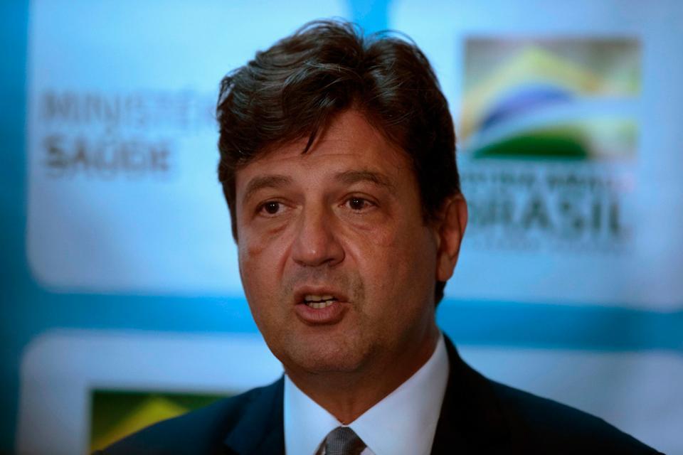 Luiz Henrique Mandetta, ministro de Salud de Bolsonaro.