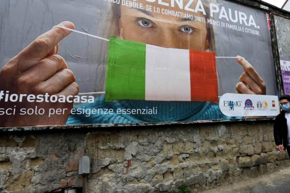 En Italia Leve baja de contagios