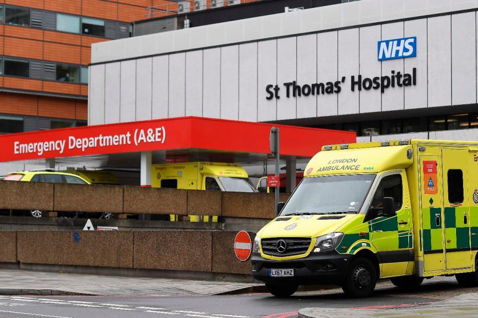 El hospital St Thomas, de Londres, donde fue hospitalizado Johnson.
