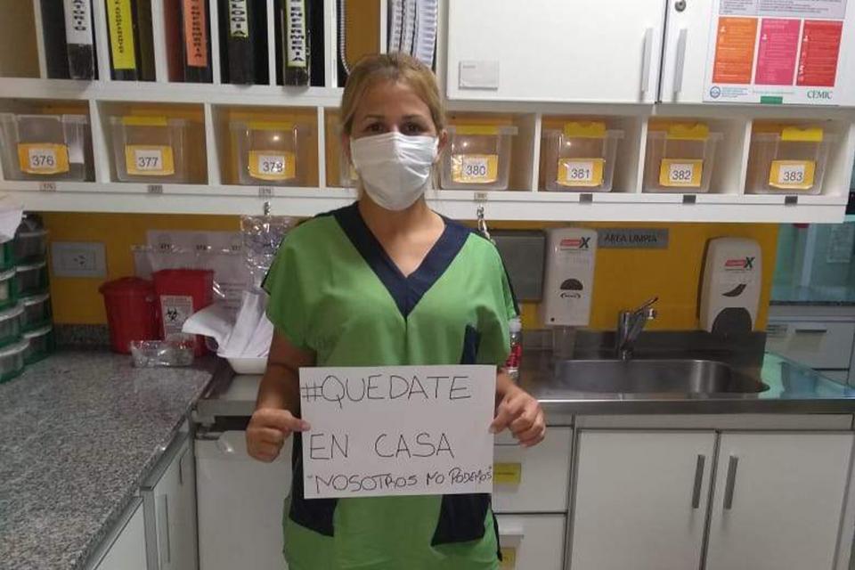 María Rosa Insaurralde, trabajadora del Cemic de Recoleta.