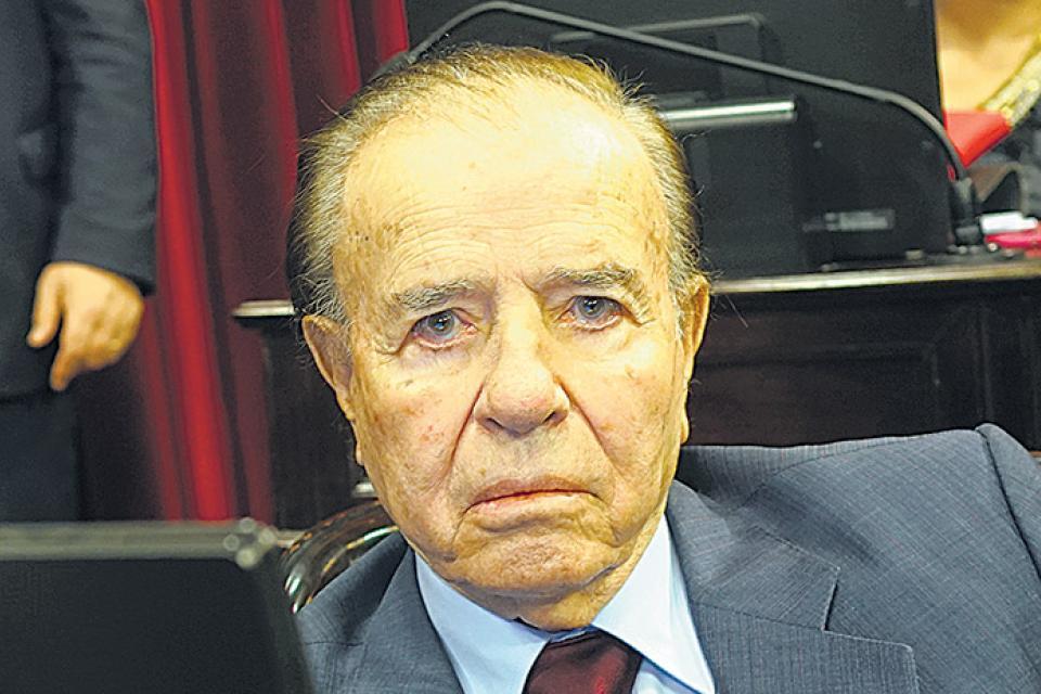 Carlos Menem internado con sospecha de Coronavirus.