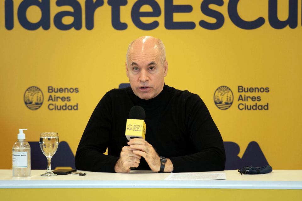 El jefe de gobierno, Horario Rodríguez Larreta, no da marcha atrás en la cuarentena.