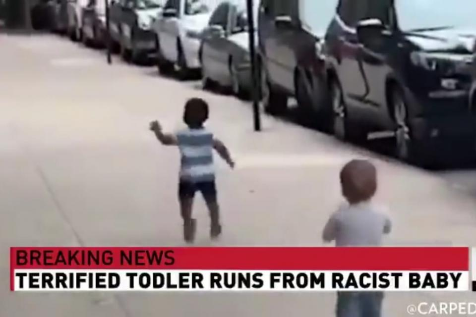 Trump manipula videos de la CNN para ridiculizar los conflictos raciales en Estados Unidos.