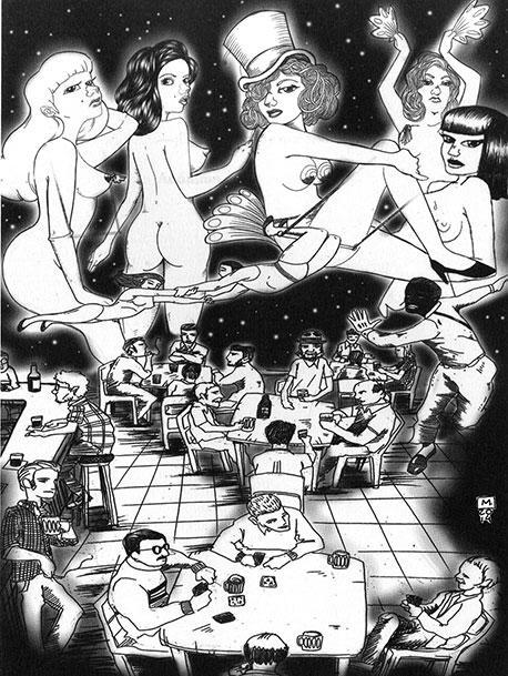 Strip-Tease: traducción visual que hace descender al lector al submundo de cines porno, cabarets y otros antros de la Argentina profunda de los años 70