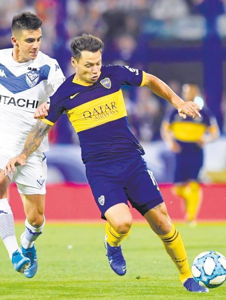 Boca empató sin goles con Vélez en Liniers y comparte ahora la cima de la tabla de posiciones con Argentinos y Lanús