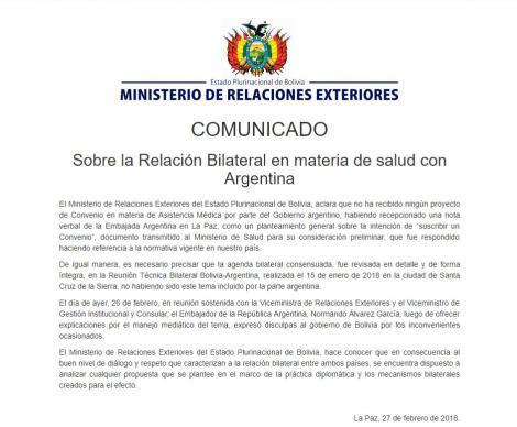 Relaciones Bilaterales Argentina-Bolivia